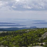 Scenic landscape of Acadia National Park