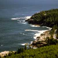 Shoreline Landscape at Acadia National Park, Maine