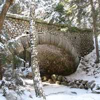 Snowy Bridge at Acadia National Park, Maine