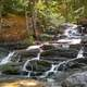 Cascading Falls in Harpswell Cliff in Maine