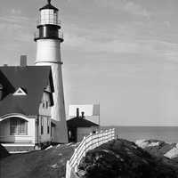 Lighthouse at Cape Elizabeth in Maine