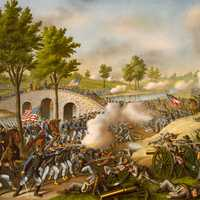 Battle of Antietam Illustration, Maryland