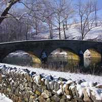 Burnside Bridge in Winter at Antietam Battlefield, Maryland