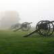 Cannons in the Fog at Antietam Battlefield, Maryland