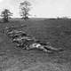 Confederate Dead Gathered for Burial at Antietam Battlefield, Maryland