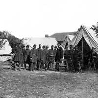 Lincoln Meeting with Generals at Antietam Battlefield, Maryland