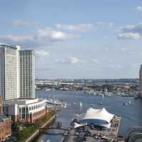 Cityscape and River of Baltimore, Maryland