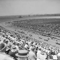 Board track racing at Laurel, July 11, 1925 in Maryland