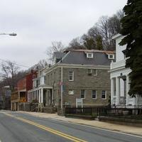 Main Street in historic Port Deposit in Maryland