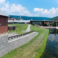 Terminus of the Chesapeake and Ohio Canal in Cumberland, Maryland