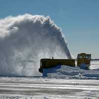 Giant snowblower at Boston Airport
