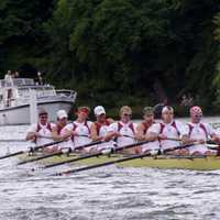 Harvard's Men's Eight Crew in Cambridge, Massachusetts