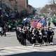 Navy Marching in St Patrick day's Parade in Boston Massachusetts