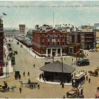 Haymarket Square in 1909 in Boston, Massachusetts