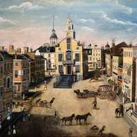 State Street in 1801 in Boston, Massachusetts