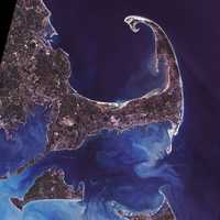 Cape of Islands satellite view in Cape Cod Massachusetts