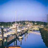 Harbor full of boats at Cape Cod, Massachusetts