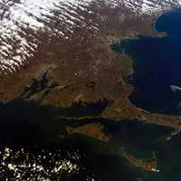 Satellite View of Cape Cod, Massachusetts