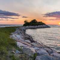 Sunset and Dusk landscape over Cape Cod, Massachusetts