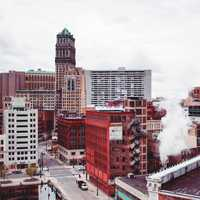 Downtown buildings in Detroit,Michigan