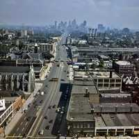 Looking south down Woodward Avenue in Detroit, Michigan
