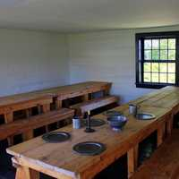 Dining Tables at Fort Wilkens State Park, Michigan