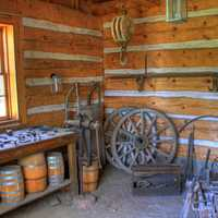 Room with a wheel at Fort Wilkens State Park, Michigan