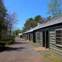 Row of houses at Fort Wilkens State Park, Michigan