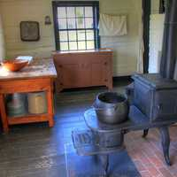 Small room for soldiers at Fort Wilkens State Park, Michigan