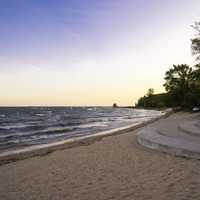 Lake Michigan Beach landscape at J.W. Wells State Park, Michigan
