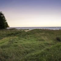 Windy Sand Dunes landscape along Lake Michigan at J.W. Wells State Park