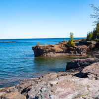 Presque Isle shoreline at Marquette, Michigan landscape