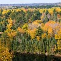 Foote Pond Overlook in Autumn