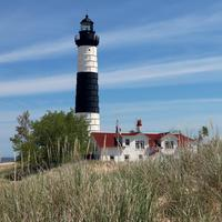 Lighthouse in Landscape in Michigan