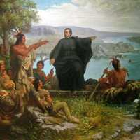 Père Marquette and the Indians in Michigan