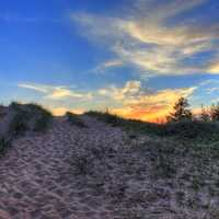 Another sunset over the dunes at Pictured Rocks National Lakeshore, Michigan