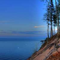 Lakeshore at Dusk at Pictured Rocks National Lakeshore, Michigan