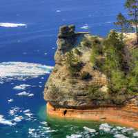 Miners Castle and Lake at Pictured Rocks National Lakeshore, Michigan