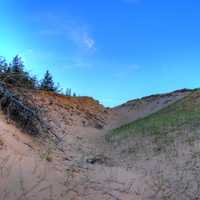 Skies over the dunes at Pictured Rocks National Lakeshore, Michigan