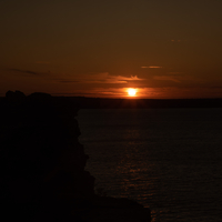 Sunset over the Lake Superior landscape