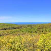 Further view of the forest and superior at Porcupine Mountains State Park, Michigan