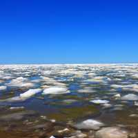 Ice on Lake Superior at Porcupine Mountains State Park, Michigan