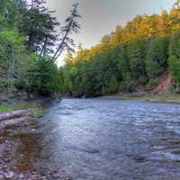 River at Presque Isle at Porcupine Mountains State Park, Michigan