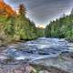 Rushing River scenery at Porcupine Mountains State Park, Michigan