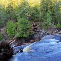 Rushing Water at Presque Isle at Porcupine Mountains State Park, Michigan