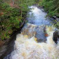 Rushing Water at Porcupine Mountains State Park, Michigan