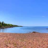 Lake Superior Bay in the Upper Peninsula, Michigan