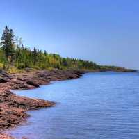 Shoreline of Lake Superior in the Upper Peninsula, Michigan