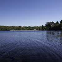 Landscape and water across lake Michigamme at Van Riper State Park, Michigan