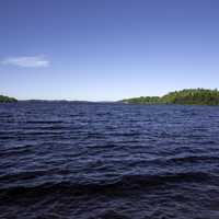 Landscape and waters of Lake Michigamme at Van Riper State Park, Michigan